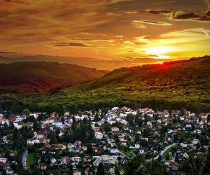 Austrian Sunset Wallpaper