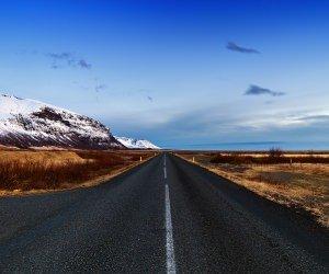 Icelandic Road, Skaftafell, Iceland Wallpaper