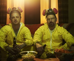 Breaking Bad - Jesse & Walt Drinking Wallpaper