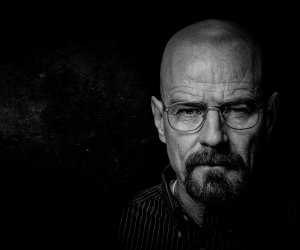 Breaking Bad - Walter White - Black & White Wallpaper
