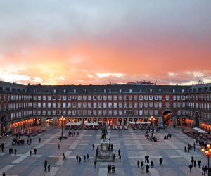 Plaza Mayor, Madrid, Spain Wallpaper