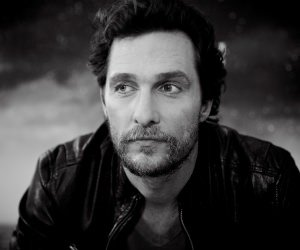 Matthew McConaughey Black & White Portrait Wallpaper