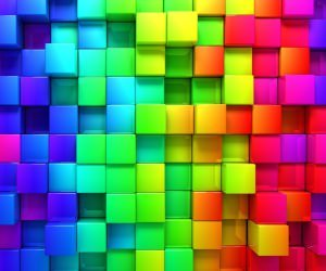 Cubic Rainbow Wallpaper