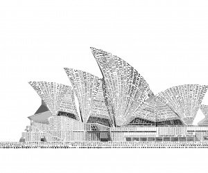 Opera House Sydney Typography Wallpaper