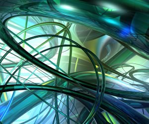 Translucide Pipes Wallpaper