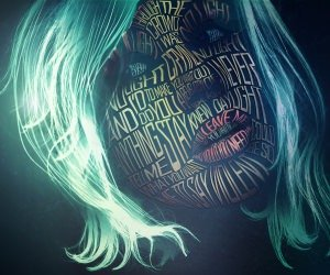 Woman Face Typography Wallpaper