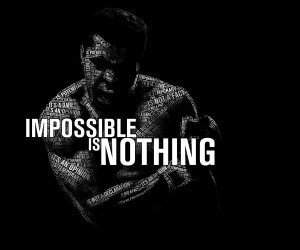 Impossible Is Nothing - Muhammad Ali Wallpaper