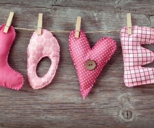 Love Letters Clothespin Wallpaper