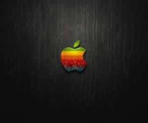 Multicolored Apple Logo Wallpaper