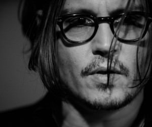 Johnny Depp Black & White Portrait Wallpaper