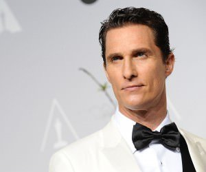 Matthew Mcconaughey in White Tuxedo Wallpaper