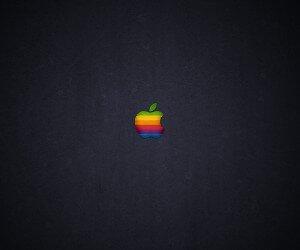Wood Retro Apple Wallpaper