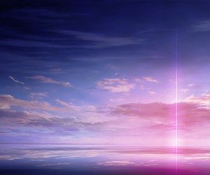 Purple Solar Pillar Wallpaper