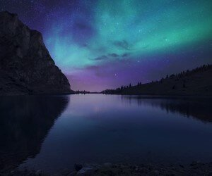 Aurora Over Bannalpsee - Switzerland Wallpaper