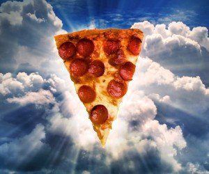 Holy Pizza Wallpaper
