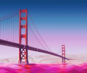 Geometric Golden Gate Bridge Wallpaper