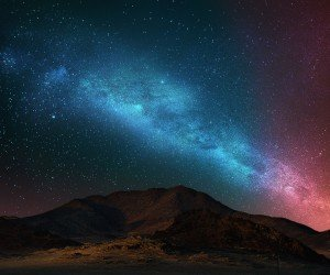 Starry Night Over The Desert Wallpaper