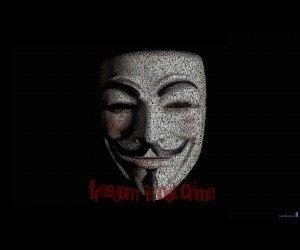 Anonymous Typeface Portrait Wallpaper