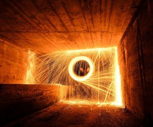 Wire Wool Long Exposure Wallpaper