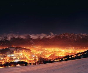 Zakopane City At Night - Poland Wallpaper