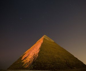 Pyramid by Night Wallpaper