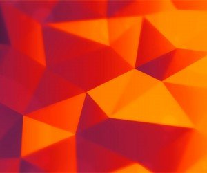 Orange Polygons Wallpaper