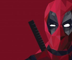 Low Poly Deadpool Wallpaper