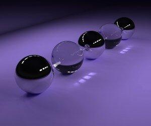 3D Glossy Spheres Wallpaper