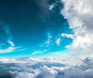 Cloudy Blue Sky Wallpaper