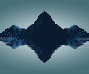 Symmetrical Mountains Wallpaper