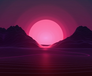 Neon Sunset Wallpaper
